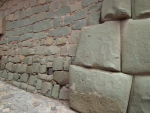 On the right is the Inca building, the left was built by the Incapabales