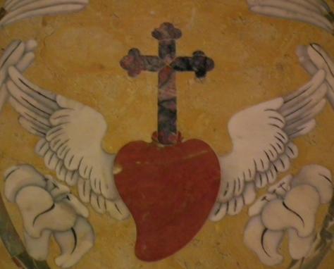 Sacred heart with wings in Santuario di San Gaetano, Naples