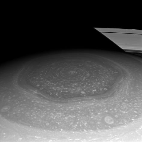 Hexagon in hemisphere of Saturn