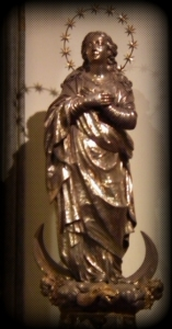 Statue of Mary Madonna in the Duomo, Naples