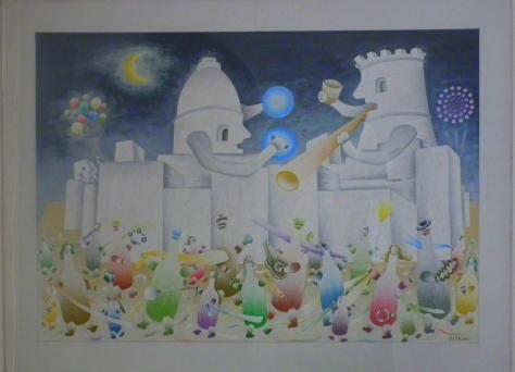 Psychedlic art in Aragon Castle