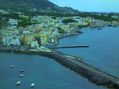 View of Ischia from terrace of Castle Aragon