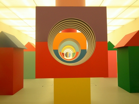 Daniel Buren exhibition, Made Museum, Napoli, Italy