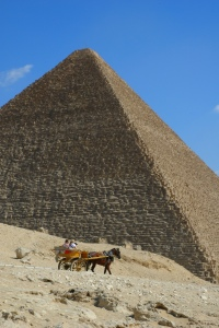 The Great Pyramid at Giza eith missing capstone