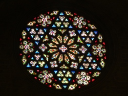 Star of David stain glass window, Valencia Cathedral
