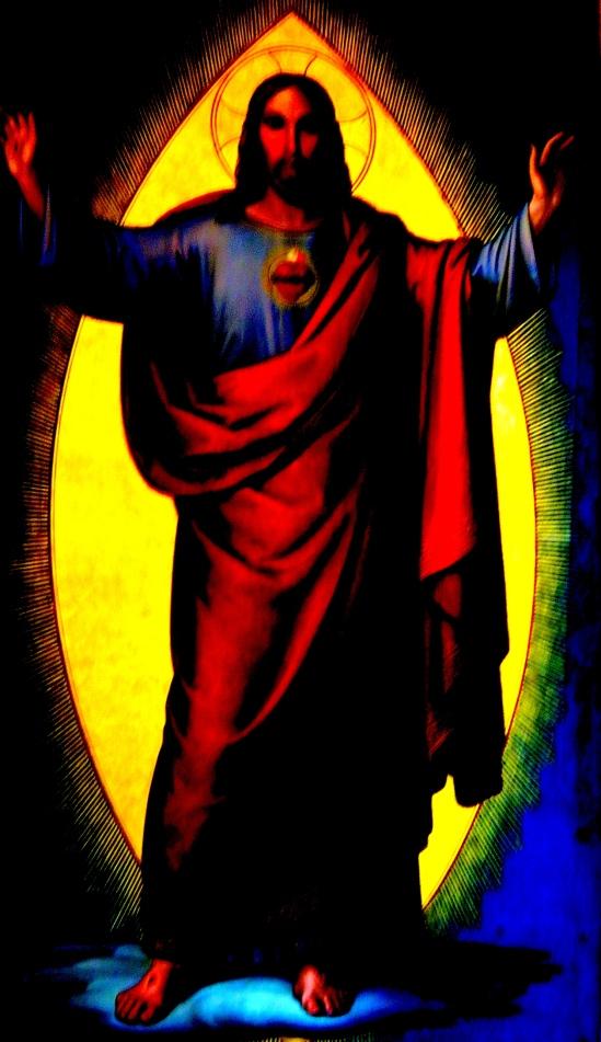 Jesus in the vesica pisces