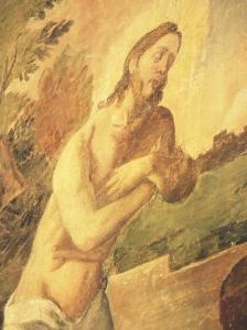 Jesus being baptised