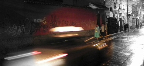 Night streets in La Paz