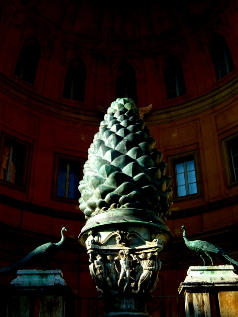 Pinecone sculpture at the Vatican