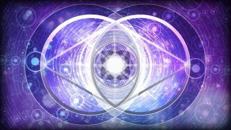 Two worlds and the vesica pisces