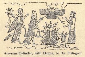Drawing of Assyrian Fish God Dagon