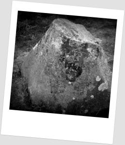 Broken phallus stone