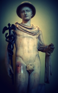 Hermes with his caduceus