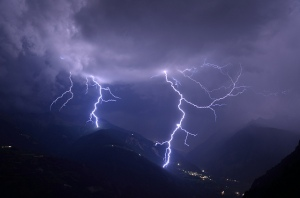 lightning in the Andes