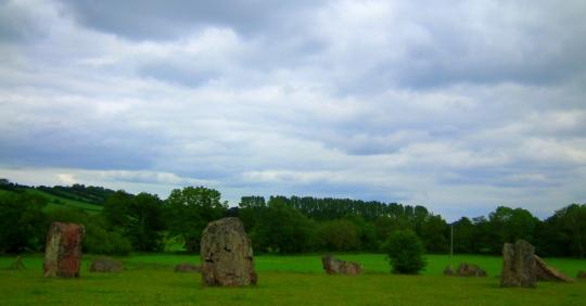 360 degree stone circle at Stanton Drew