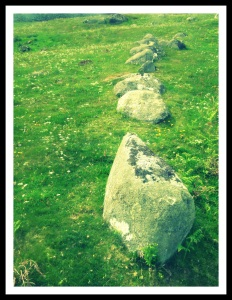 A line of stones