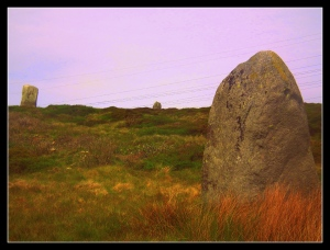 Three standing stones arranged in a triangle..?