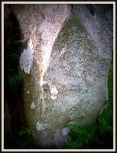 Cut stone in shape of Vesica Pisces
