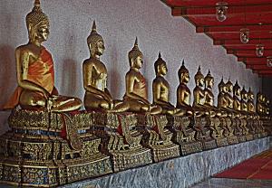 Buddha statues Wot Pho, Bangkok