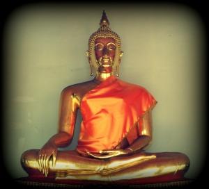 A sitting Buddha, Thailand