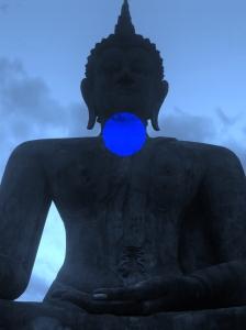 Buddha meditating on Vishuddha