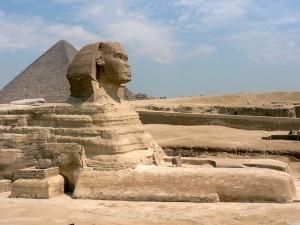Sphinx on the Giza plateau