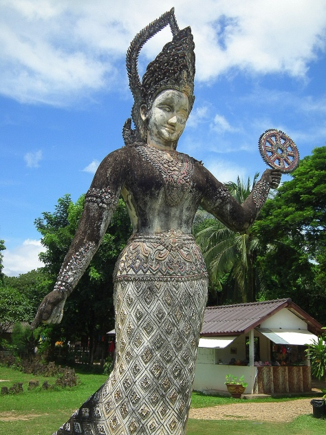Hindu Deva with the Dharma Wheel
