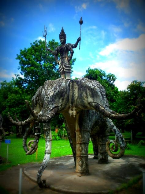 Sculpture of Shiva riding Airavata