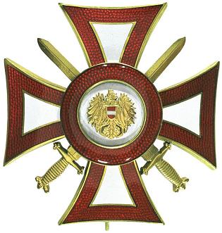 Crossed swords Austrian Military Merit Decoration