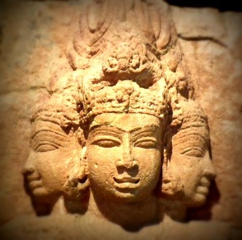 The Aum represents the Hindu Trimurti