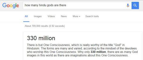 330 million Hindu Gods - apparently