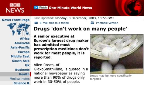 Drugs don't work bbc 2003