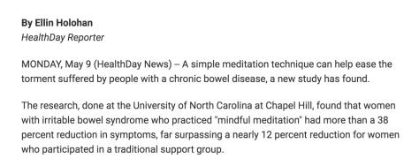 Meditation helps ease chronic bowel disease