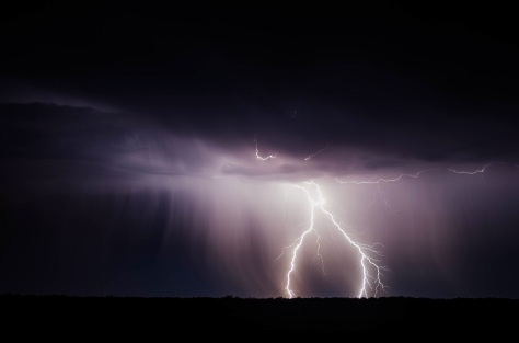 Lightning represent a connection between physical world and spiritual world