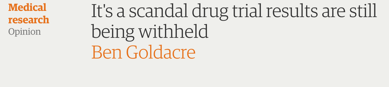 Ben Goldacre, pharmaceutical scandal
