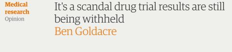 Ben Goldacre, pharmaceutical scandal