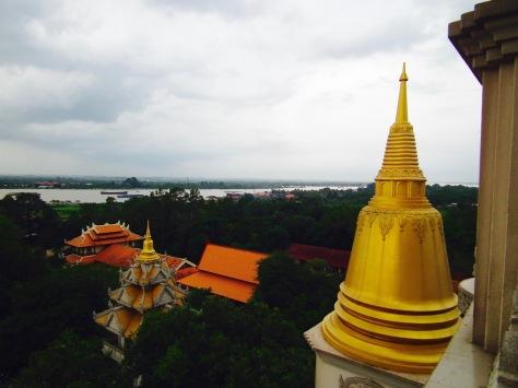Buddhist Stupas are shaped like a bell