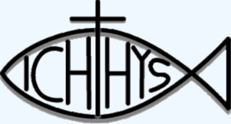 Two circles create the Ichthys