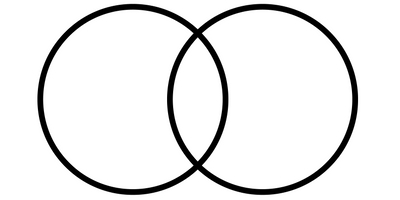 Two circles that create the Vesica Pisces