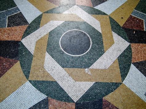 Seal of Solomon designed in squares
